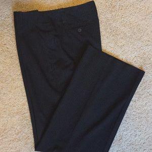 Women's black & white pinstripe dress pants